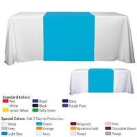 "90"" L Table Runners - (Blanks) / Accommodates 3' Table and Larger"